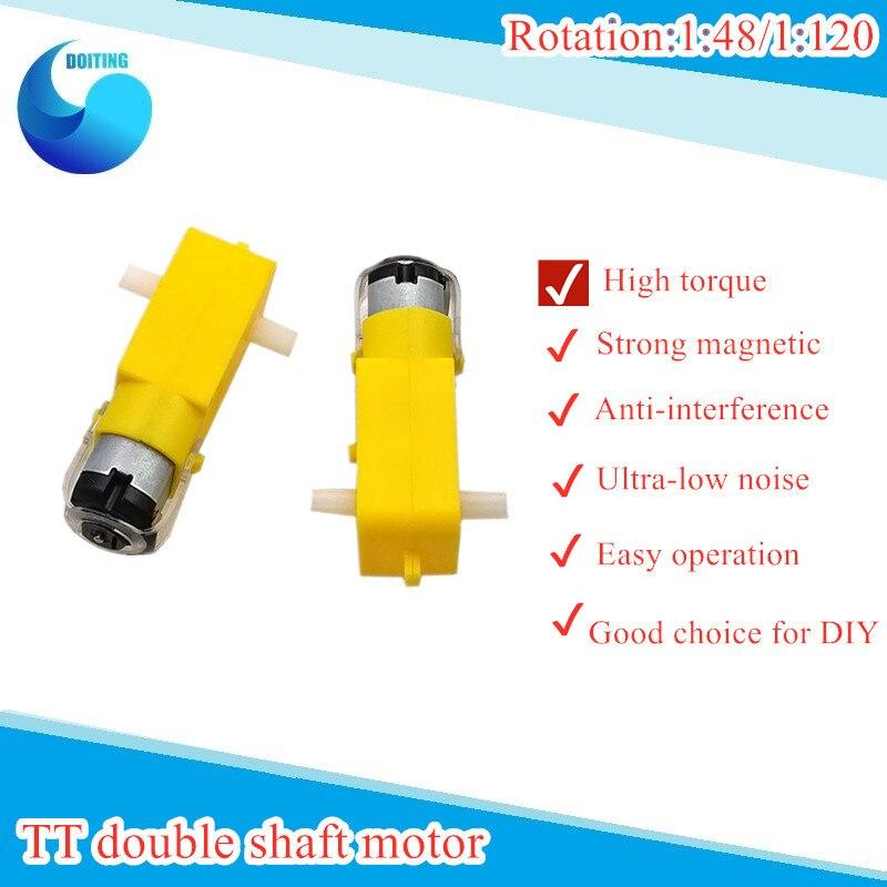 Engranaje de dirección Biaxial DC TT relación de reducción del Motor 148/1 120 Robot antiintercomunicador magnético DIY RC Kit de desarrollo de coche electrónico