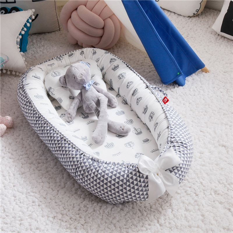 JOYLIVE مجلد يمكن إلغاء وغسل المحمولة ضغط الدفاع بيونيك التدابير جميع الطفل في سرير طفل وسادة السفر سرير جديد