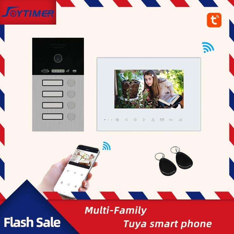 Joytimer New Video Intercom 1200TVL Video Door Phone Support Tuya Smart Camera Suitable For Multi-Family Home Intercom System