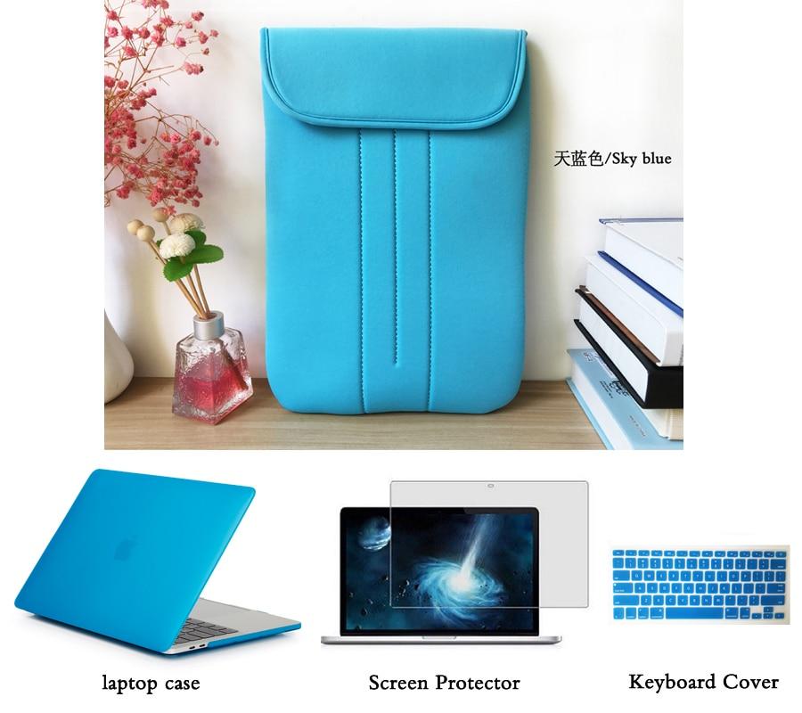 Матовый Жесткий чехол + сумка + экран Protetctor для Macbook Pro Retina 12 13 15 дюймов Macbook Air 11 13 корпус ноутбука A2159