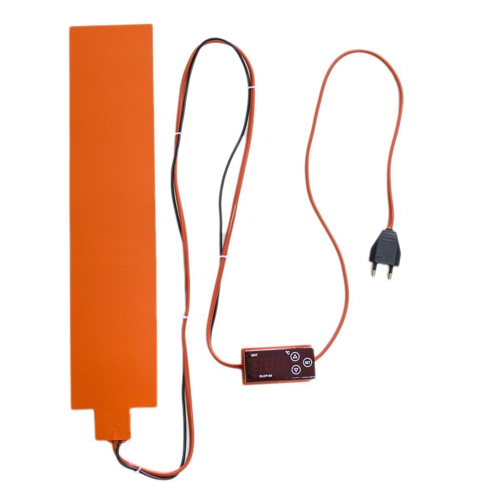 Flexível do Calefator do Silicone do Controlador de Temperatura Dobra o Aquecimento Térmica do Aquecimento 290w com a Esteira Ukulele Lateral – Almofada 65x450mm 220v Que