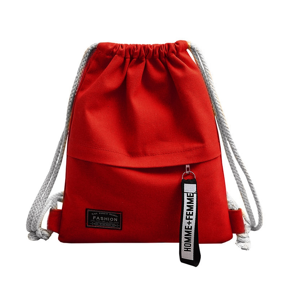 canvas drawstring backpack School Gym Canvas Drawstring Bag  Canvas Storage Pack Rucksack Pouch for school back pack for teen