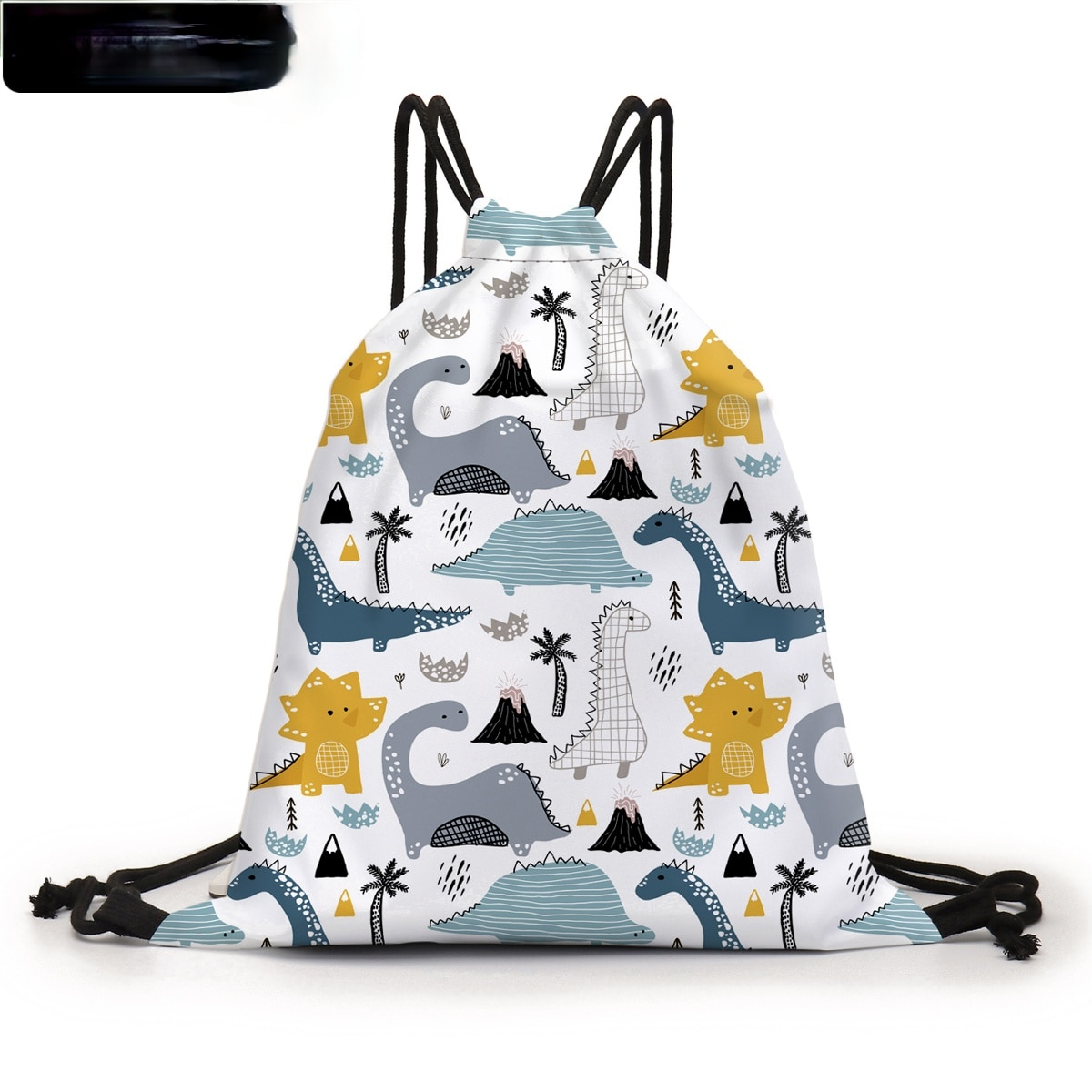 Drawstring Bag Colorful Dino 3D Printed Pouch Bag Cute Backpack Purse Bags For TravelD60441