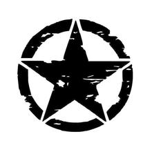 Creative Car Sticker Five-pointed Star Car Styling Waterproof Cover Scratch for Jeep Accessories Foc
