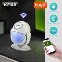 KERUI WP71 Tuya Smart WIFI Systeme Dalarme de Mouvement DE Mouvement Sans Fil PIR SensorsWorks avec Alexa LED Flash 120dB Fort