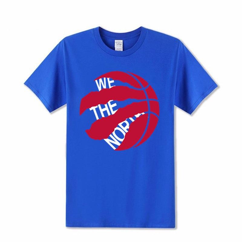 Camiseta estampada de algodón de 100% a la moda con el Logo de We the North para hombre, Camiseta de cuello redondo para fans Raptors