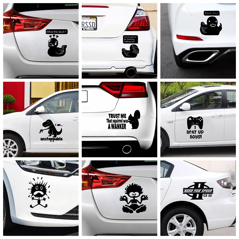 Cute Duck Car Sticker Vinyl Decal Waterproof Car Decoration Decal Auto Exterior Car Styling Accessories