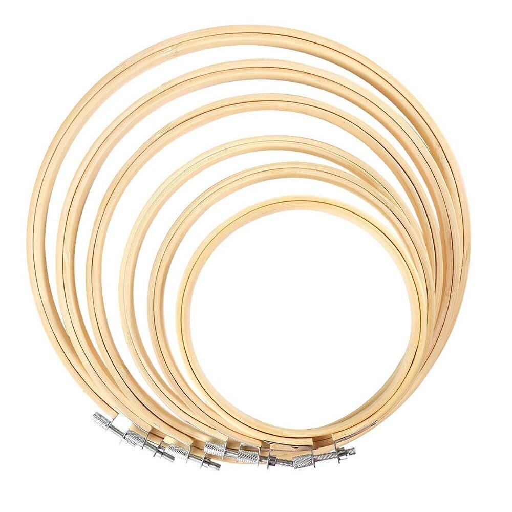 Juego de 6 piezas de aro bordado, aro de punto de cruz con círculos cruzados de bambú, aro de 4 pulgadas a 10 pulgadas para bordado y punto de cruz