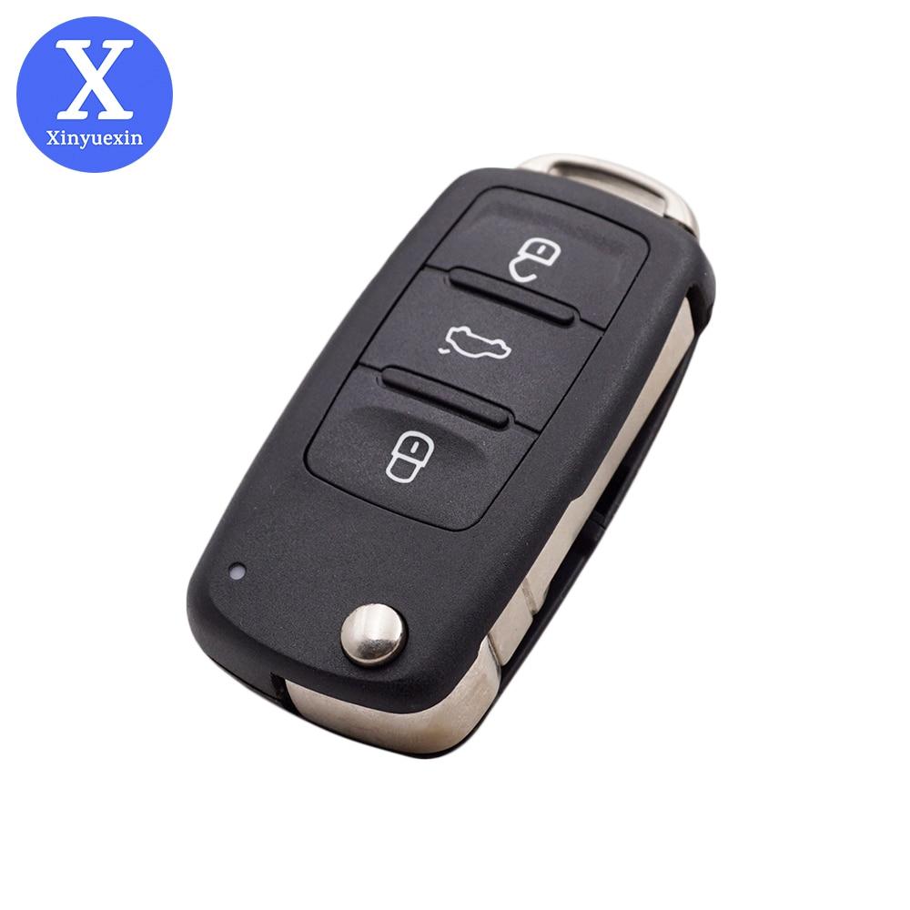 Xinyuexin-carcasa de reemplazo para llave de coche, carcasa de reemplazo para VOLKSWAGEN...