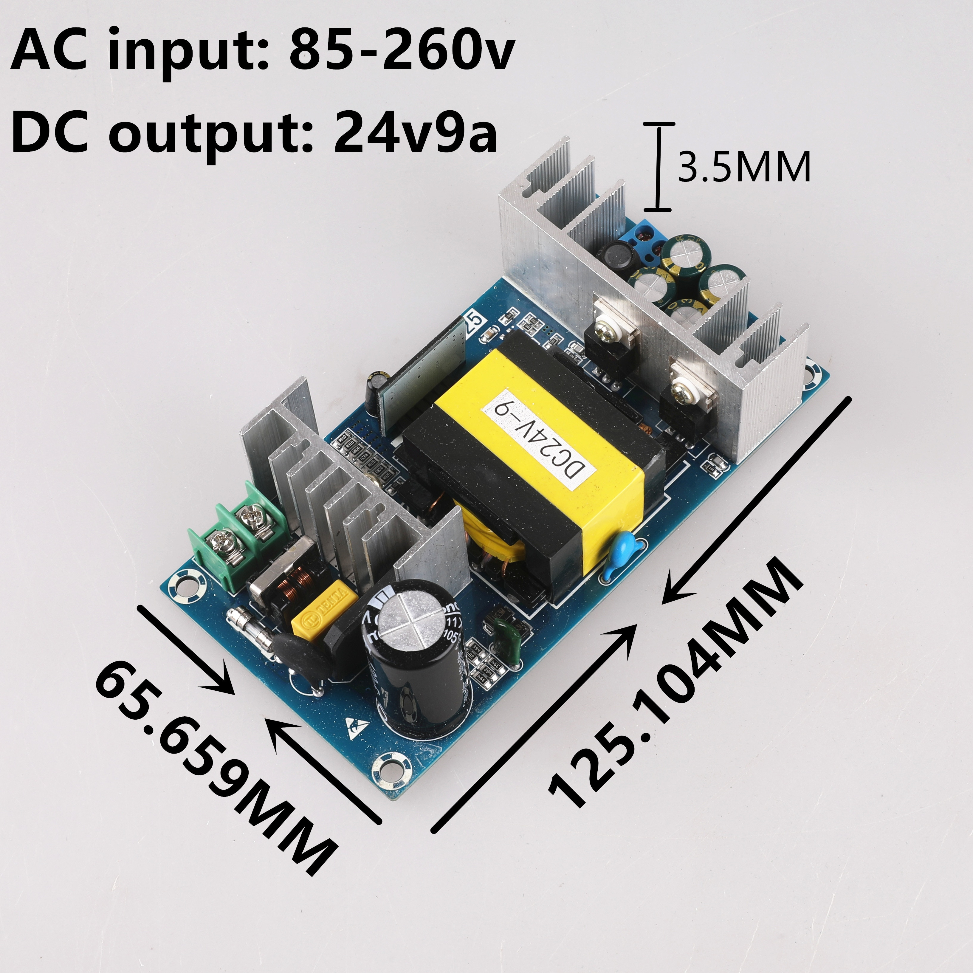 AC 100-240V to DC 24V -9A Power Supply Module Board Switch AC-DC Switch Power Supply Board