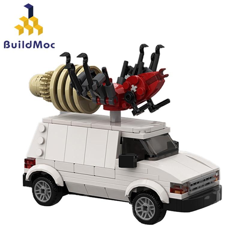 Buildmoc Creative Expert The Bugabago Car King of the Hilled Dodged Caravan C/V Cargo Van Technical Truck Building Blocks Toys