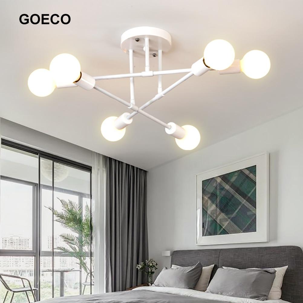 الحديثة الشمال مصباح السقف الذهبي LED الثريا ل غرفة المعيشة المنزلي غرفة الطعام غرفة نوم 6 رؤساء تركيبات الإضاءة ديكور المنزل