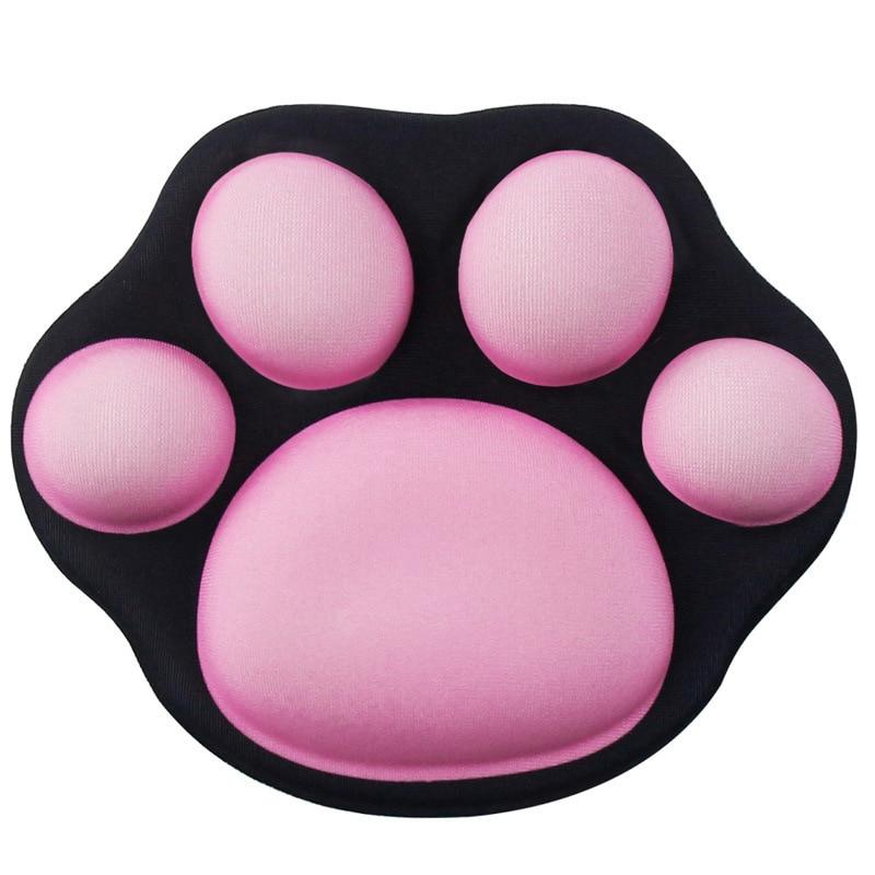 لطيف القط مخلب لوحة المعصم الصغيرة الماوس دعم الماوس اليد وسادة الكرتون الإبداعية لطيف سيليكون مكتب اليد وسادة لينة