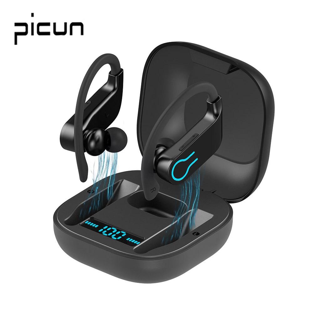 Auriculares inalámbricos Picun W7 TWS con Bluetooth 5,0, auriculares estéreo deportivos, carcasa de 950mah, Auriculares resistentes al agua con micrófono