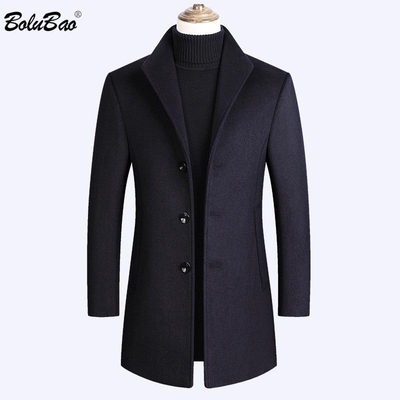 BOLUBAO-معطف صوف رجالي ، معطف كاجوال جديد ، لون عادي ، ذو علامة تجارية عالية الجودة