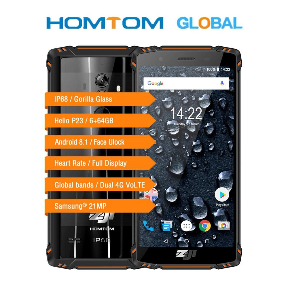 Homtom ZOJI Z9 Helio P23 Octa Core 5,7 zoll IP68 Herz Ratte Smartphone 6GB RAM 64GB ROM 16MP cam 5500mAh 4G LTE Handy