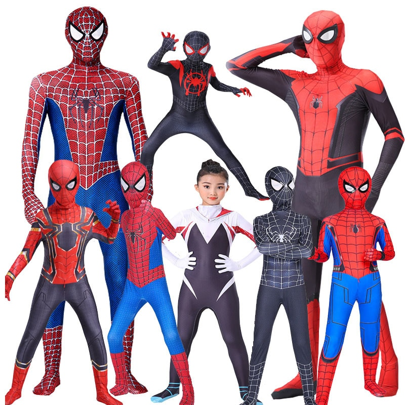 10 styl Spider- Boy Man kombinezony dorosły dzieciak chłopiec Peter Parker pająk przebranie na karnawał superbohater ludzie impreza Rave element ubioru nowość