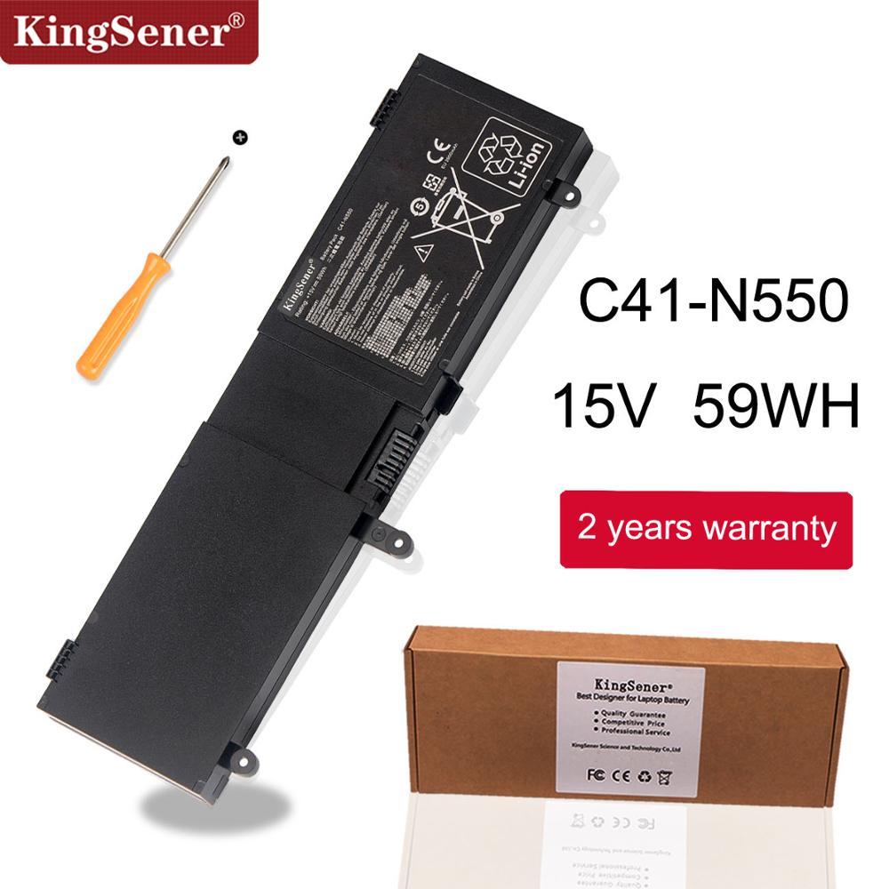 KingSene C41-N550 batería del ordenador portátil para ASUS N550 N550JA N550JK N550JV G550 G550J G550JK ROG G550 G550J G550JK Q550LF Q550L serie