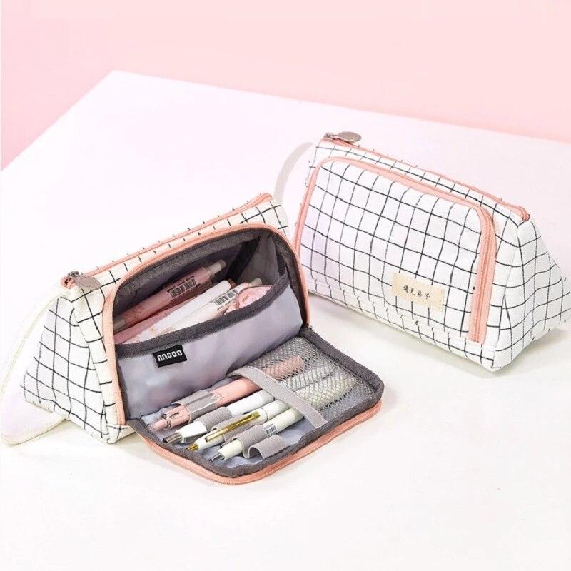 Новый чехол для карандаша, новинка, держатель для маркера, фоторучка, милые Канцтовары, холщовая коробка большой емкости для макияжа, подаро...
