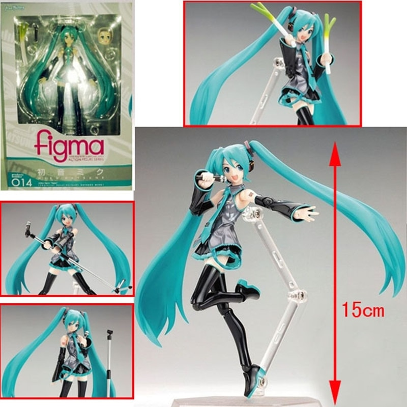 2020 nueva figura de acción de Anime movible Surwish Hatsune Miku modelo juguete muñeca-azul 15cm PVC