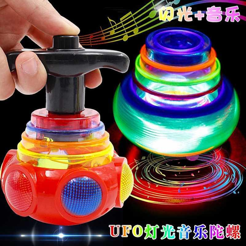 Light And Music Gyro Toy Boy Decompression Toy The Same Thing Net Celebrity Toy Luminous Gyro Toy