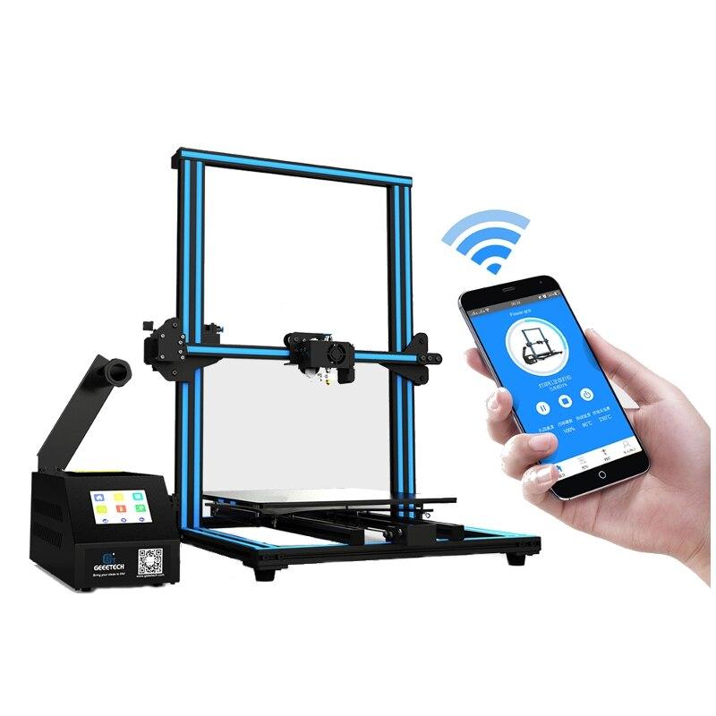 Tamanho de Impressão com Auto-nivelamento Detector de Filamento Geeetech Desktop Impressora 320*320*420mm Grande Quebrar-retomar Wifi A30 3d