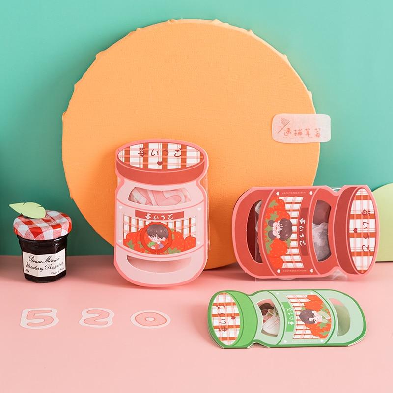 12pcs/LOT strawberry boy series Creative decoration material cute DIY masking paper washi sticker