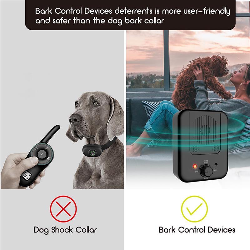Pet Dog Ultrasonic Anti-Barking Device Dog Repeller Trainer Training Equipment Dog Anit Barking Training Clicker Pet Supplies
