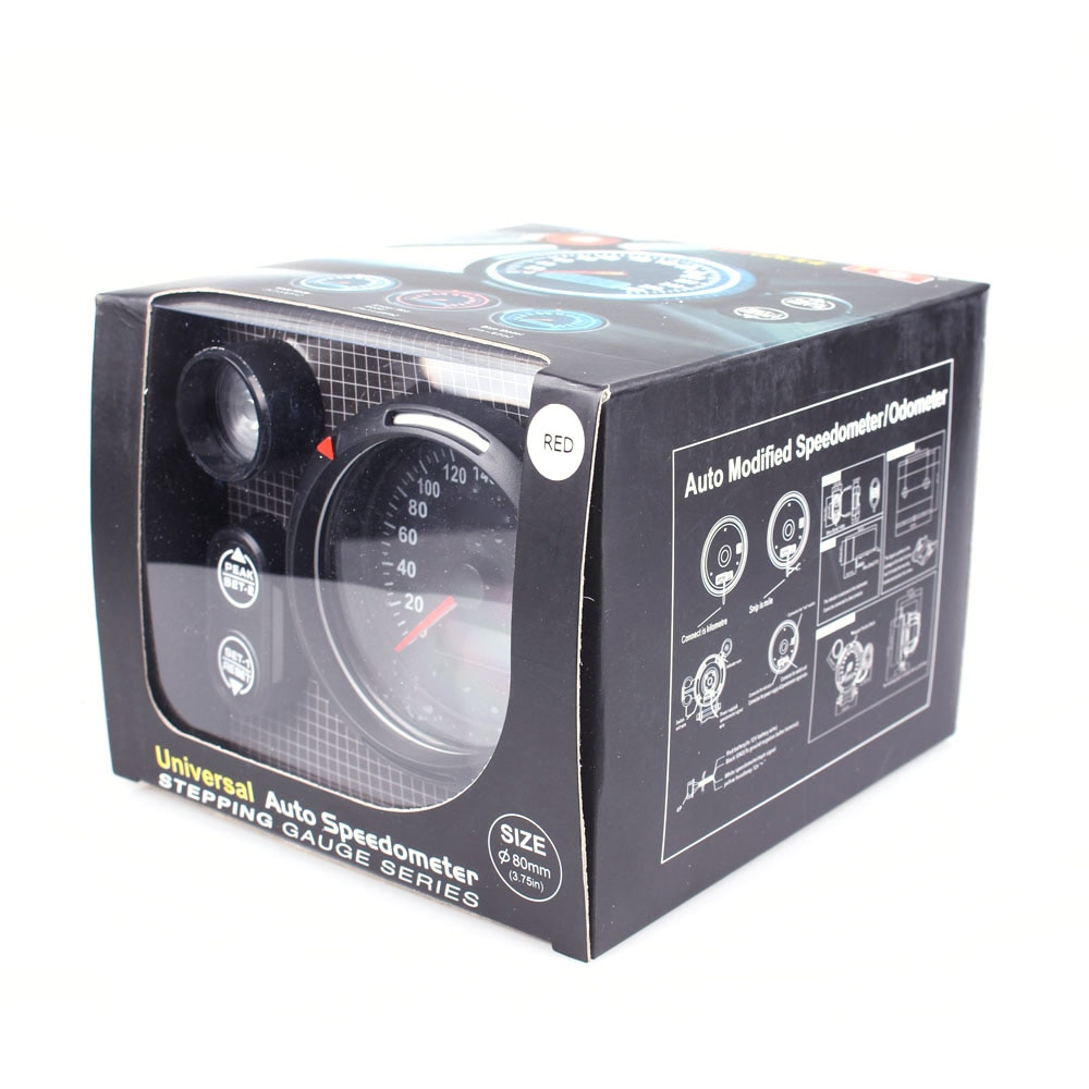 Defi 3.75 Inch 80mm Speedometer Gauge MPH KMH Gauge With Red Shift Light  - buy with discount