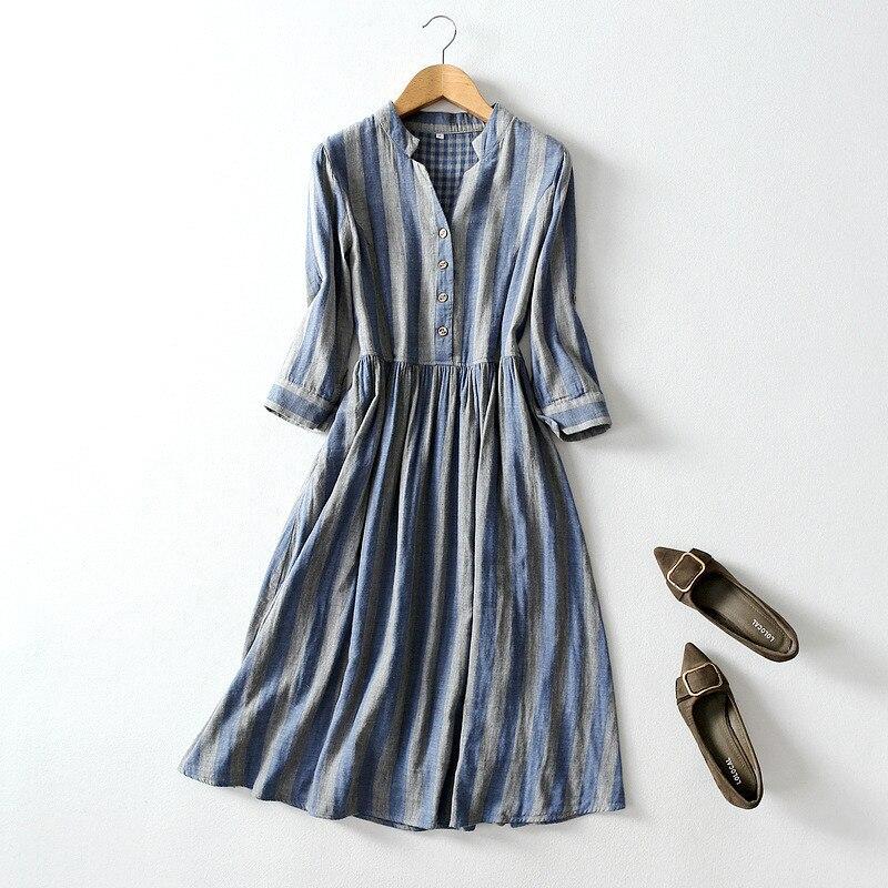 Лидер продаж 2020, стильное платье для отдыха с высокой талией из чистого хлопка, женское платье на осень и лето, женская одежда в стиле бохо