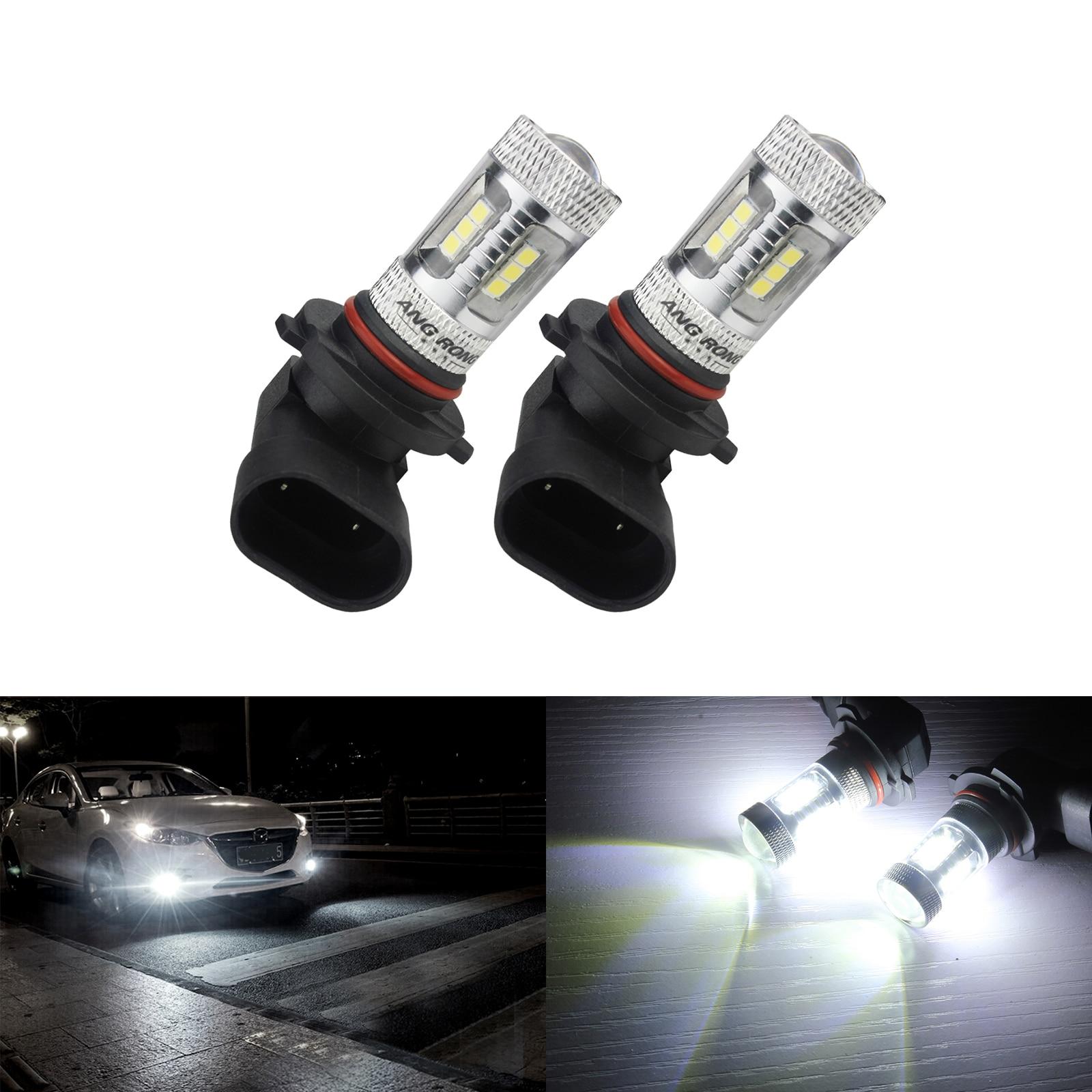 ANGRONG 2x HB3 9005 H10 bombilla LED de circulación diurna niebla luz de conducción xenón blanco