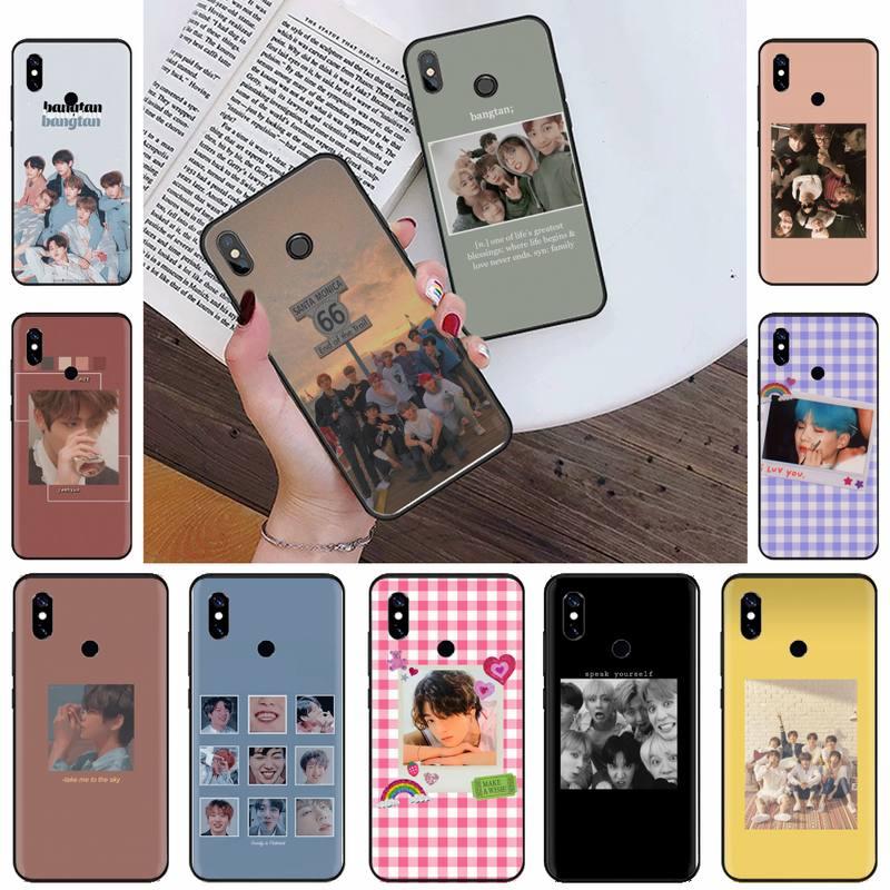 Kpop música pop coreano capa de telefone de borracha macia para xiaomi redmi 4x5 plus 6a 7 7a 8 mi8 8lite 9 nota 4 5 7 8 pro