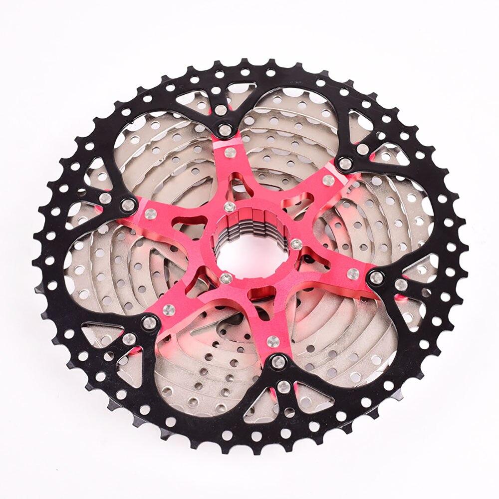 Cassette de bicicleta de montaña de 10 velocidades rueda libre independiente de aleación de aluminio piñón rueda libre de bicicleta rueda libre de Metal de alta dureza