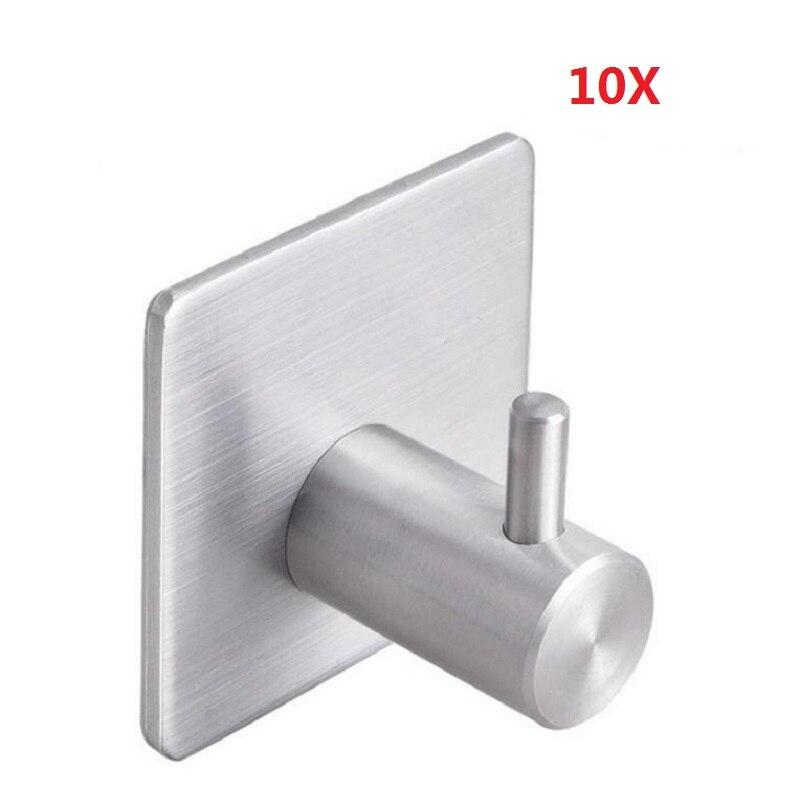 10 304 PCS Self Adhesive Robe Ganchos Gancho de Aço Inoxidável Gancho de Toalha para Banheiro