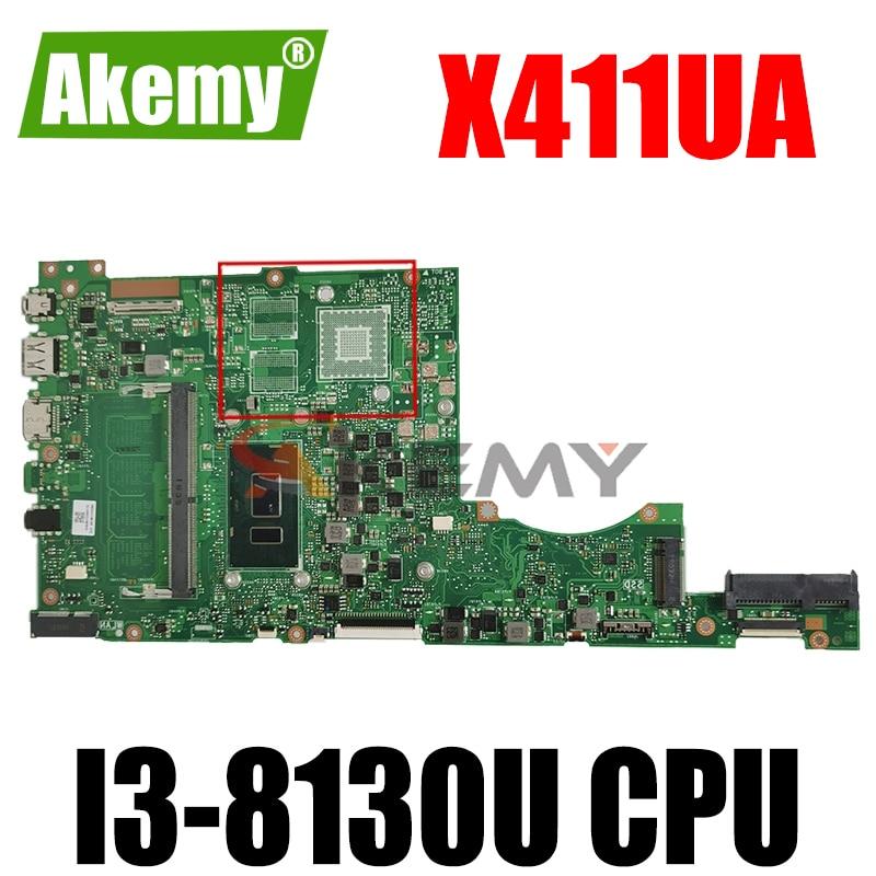 Akemy X411UA اللوحة لابتوب ASUS VivoBook-14 X411UA X411UQ X411UN X411U S4200UQ S4200U اللوحة الأصلية I3-8130U GM
