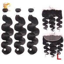 AOSUN HAIR Body Wave Bundles With 13*4 Lace Frontal Peruvian Remy Hair Weave Bundle With Frontal Human Hair Bundles With Frontal