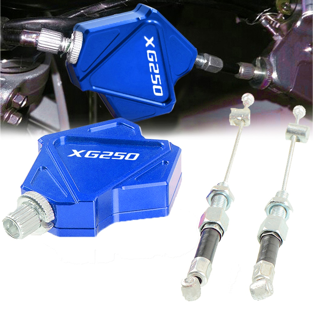 Para yamaha xg250 tricker 2004-2010 2005 2006 2007 2008 2009 xg 250 motocicleta alumínio dublê embreagem alavanca fácil puxar sistema de cabo
