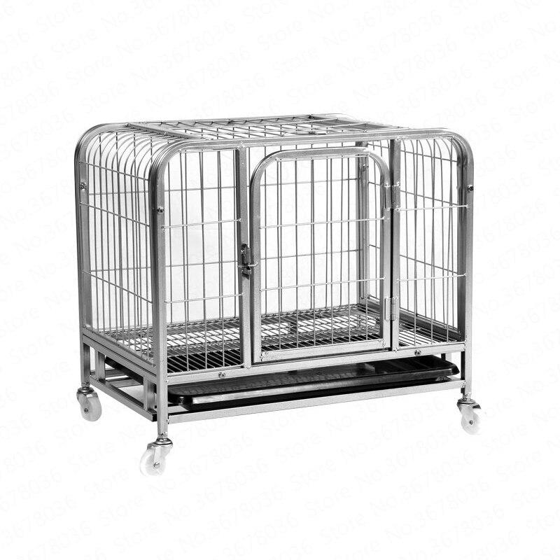 Jaula para perro mascota pequeña mediana jaula cuadrada jaula para perro Teddy Golden Maosamo jaula para perro suministros para mascotas caseta plegable para perro