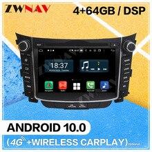 Lecteur DVD multimédia de voiture décran de Carplay Android 10.0 pour Hyundai I30 Elantra GT 2012 + GPS Navigatio unité principale stéréo de Radio automatique