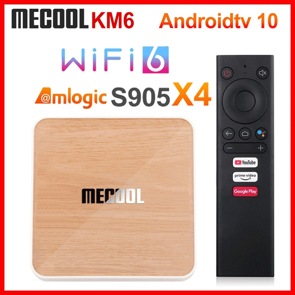 Mecool KM6 Deluxe edition ATV Amlogic S905X4 Smart Android 10 TV Box 4GB 64GB 2.4G/5G WiFi 4K Set To