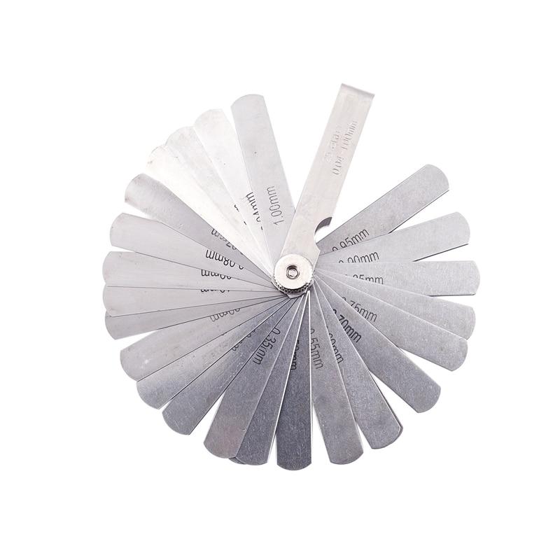0.04 a 1.00mm espessura gap métrica 25 lâmina de enchimento feeler calibre medida ferramenta a laser