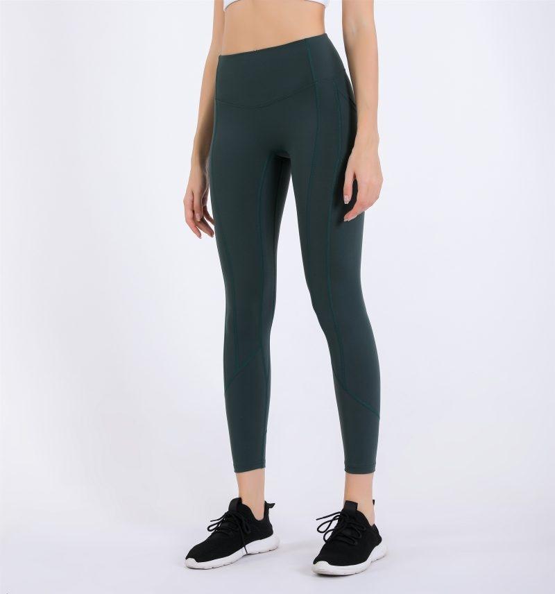 Lululemon- Pocket Solid Sport Pants High Waist Sport Leggings Fitness Women Leggings Training Runnin
