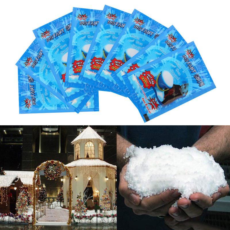 1pcs Magic Fake Snow Artificial Snowflakes Instant Snow Fluffy For Christmas Wedding White Snow Decoration