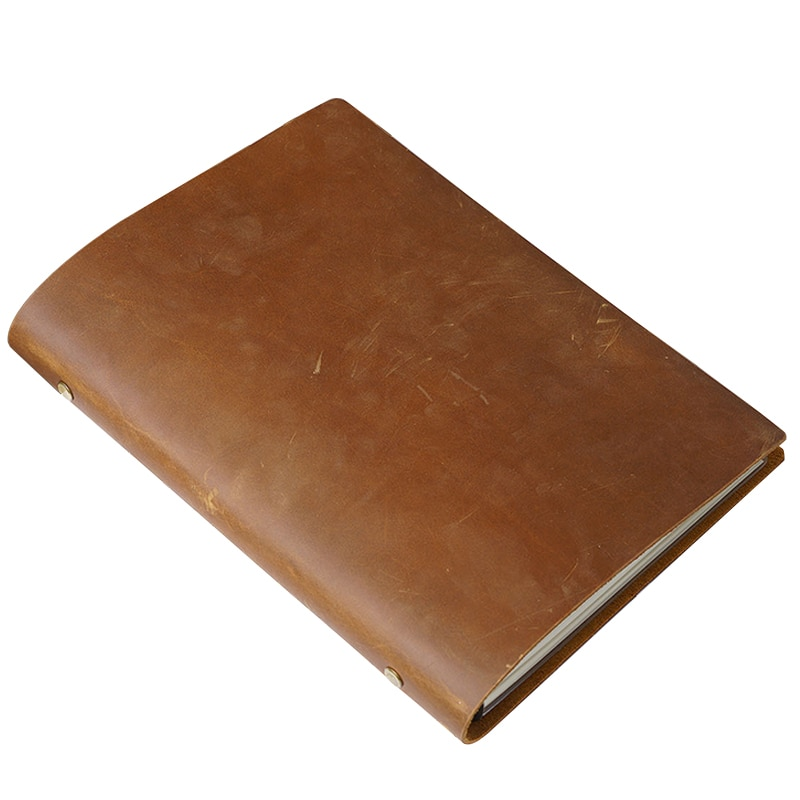 Real Leather Notebook Cowhide Genuine Leather Writing Note Book Travel Diary Outdoor Journal Planner Agenda Office School Gift