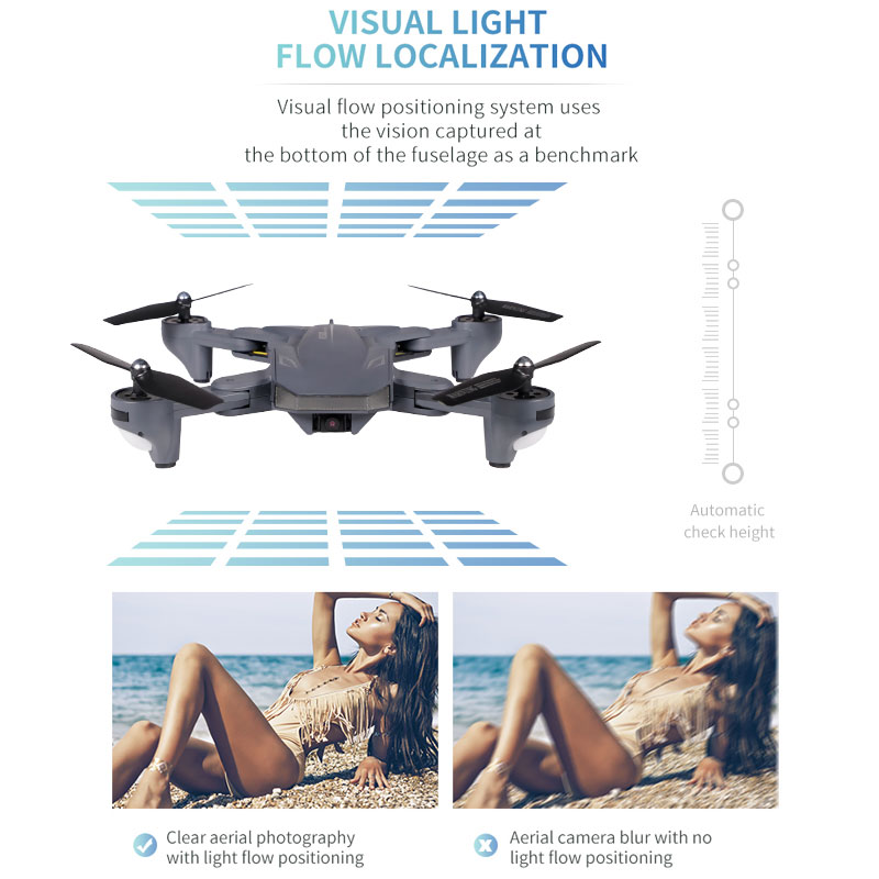 XS816 Quadcopter RC Drone with 50 Times WiFi FPV 4K /1080P Dual Camera Optical Flow Selfie Dron Profesional Helicopters VS SG106 enlarge