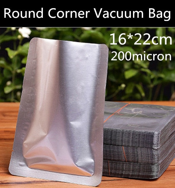 Envío Gratis 100pcs16cmx22cm (6,3 * 8,7) bolsa de embalaje de papel de aluminio de 200 micras bolsa de vacío de Papel Sellado térmico