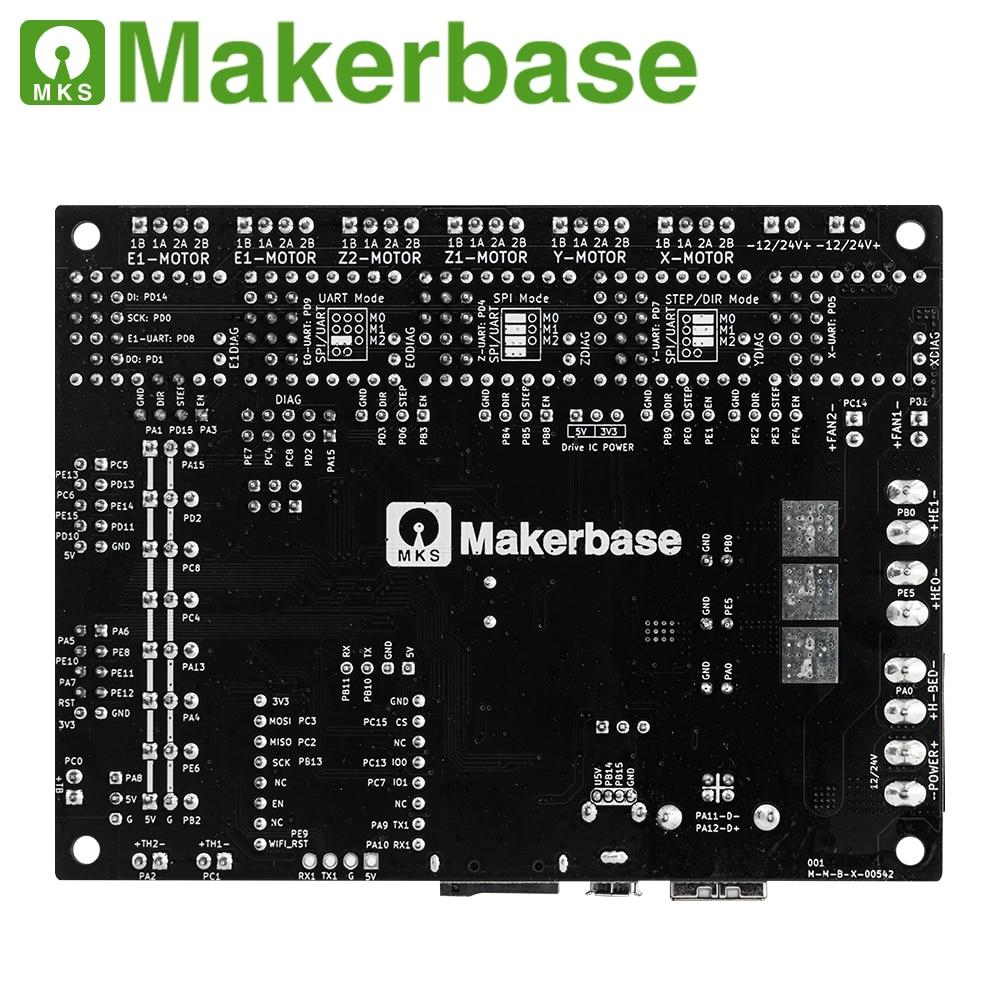 Makerbase MKS Robin Nano V3 32Bit 168Mhz F407 Control Board 3D Printer parts TFT screen USB print VS Nano V2
