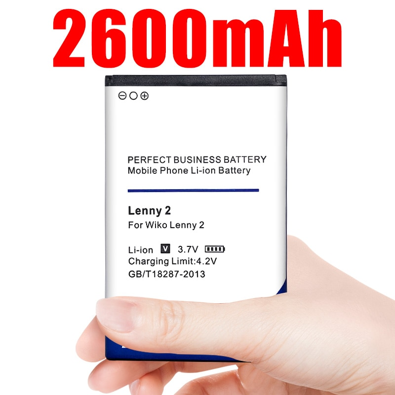 Batería de teléfono para Wiko Lenny2, 3,7 V, 2600mAh, baterías de iones de litio