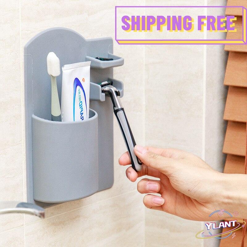 Soporte para cepillo de dientes montado en la pared maquinilla de afeitar...
