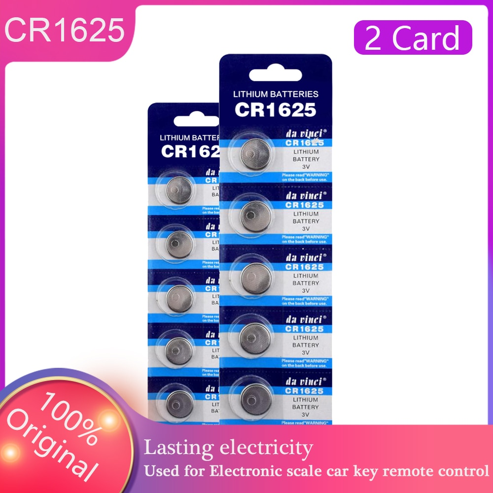 HOT SALES 10Pcs CR1625 BR1625 ECR1625 LM1625 KCR1625 Button Batteries 3V Watch Electronic Toy Remote Cell Coin Lithium Battery